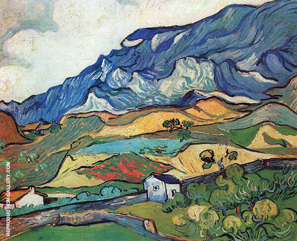 Les Alpilles Mountain Landscape 1889 By Vincent van Gogh