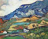 Les Alpilles Mountain Landscape 1889 By Vincent van Gogh