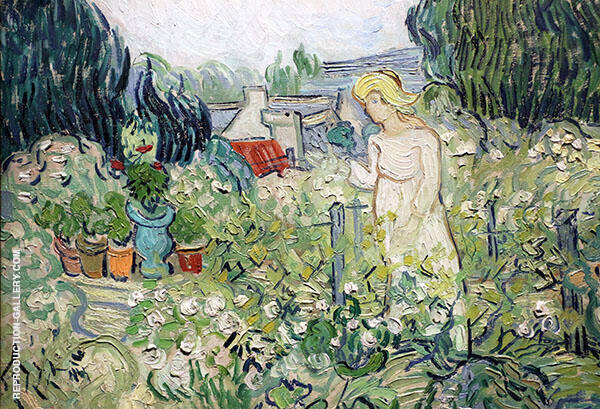 Marguerite Gachet in The Garden By Vincent van Gogh