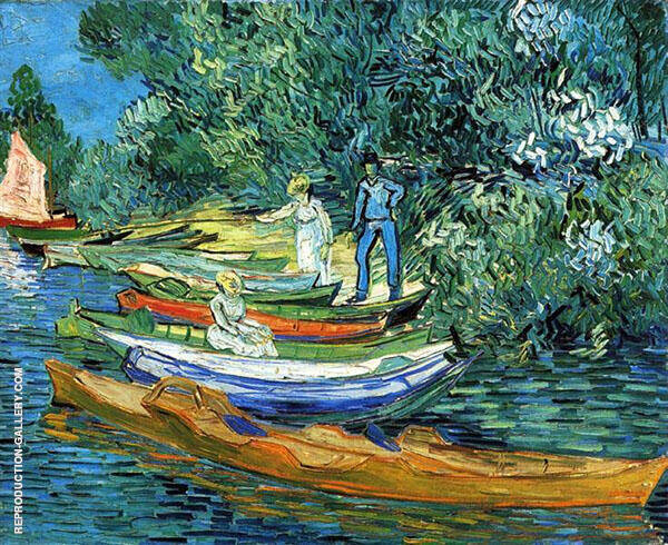 Rowing Boats on The Banks of The Oise 1890 Painting By Vincent van Gogh