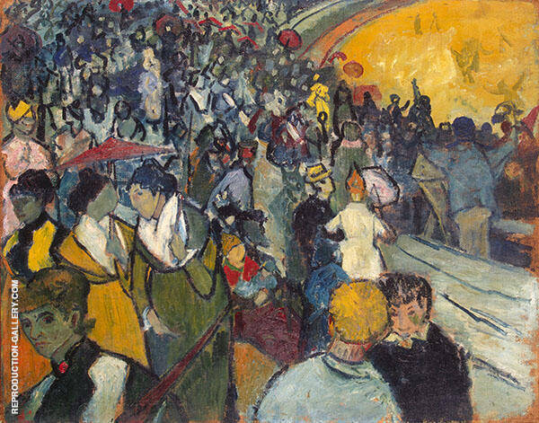 Spectators in the Arena at Arles 1888 By Vincent van Gogh
