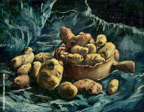 Still Life with an Earthen Bowl and Potatoes By Vincent van Gogh