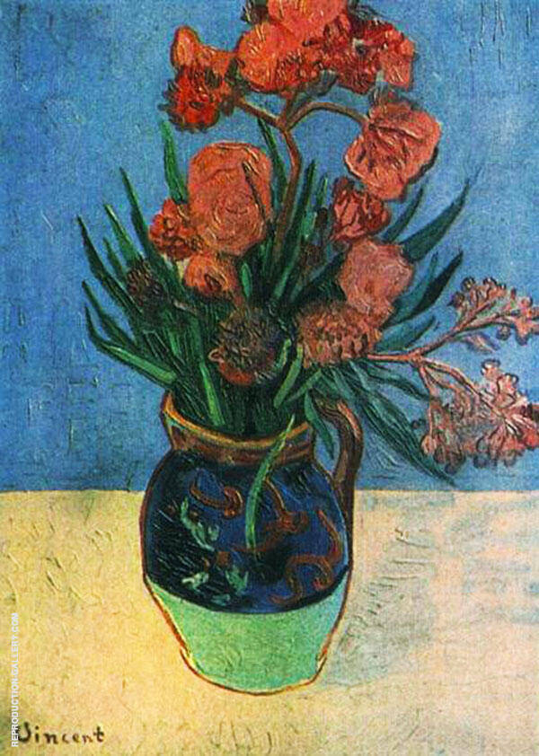 Still Life Vase with Oleanders 1888 By Vincent van Gogh