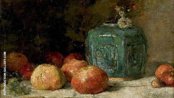 Still Life with Ginger Jar and Apples By Vincent van Gogh