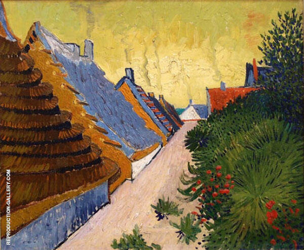 Street in Saintes Marie de la Mer 1888 By Vincent van Gogh