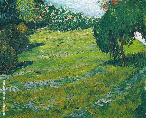 Sunny Lawn in a Public Park 1888 By Vincent van Gogh
