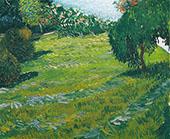 Sunny Lawn in a Public Park 1888 By Vincent van Gogh
