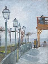 Terrace and Observation Deck at The Moulin de Blute Fin Montmartre 1887 By Vincent van Gogh