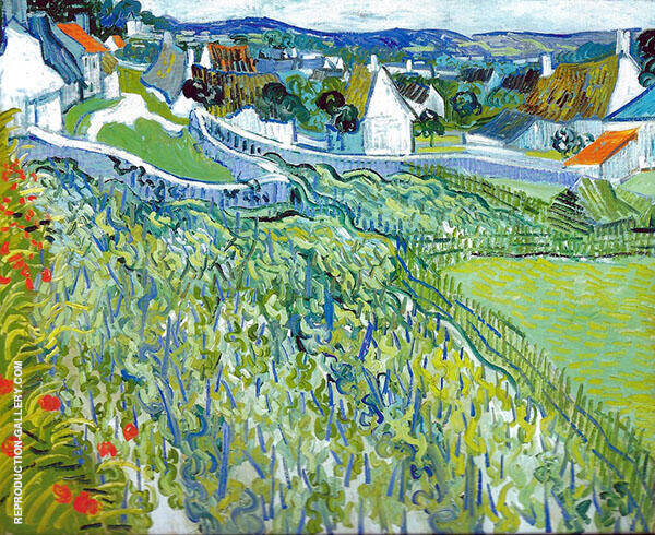 Vineyards with a View of Auvers Painting By Vincent van Gogh