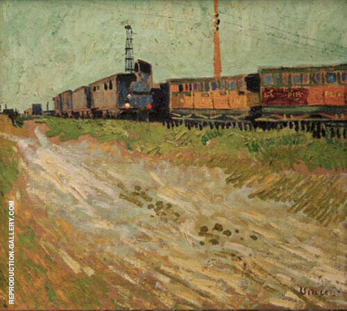 Railway Carriages 1888 Painting By Vincent van Gogh - Reproduction Gallery