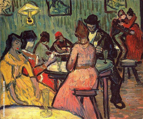The Brothel 1887 By Vincent van Gogh