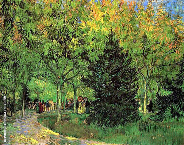 A Lane in The Public Garden at Arles 1888 Painting By Vincent van Gogh