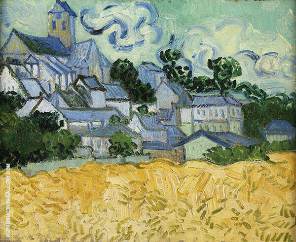 View of Auvers with Church By Vincent van Gogh