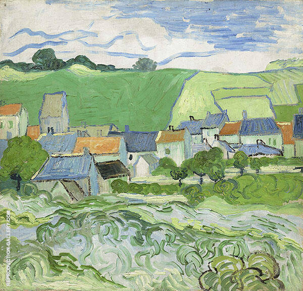 View of Auvers Painting By Vincent van Gogh - Reproduction Gallery