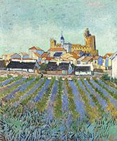 View of Saintes Maries 1888 By Vincent van Gogh