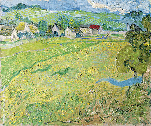 View of Vessenots near Auvers 1890 By Vincent van Gogh