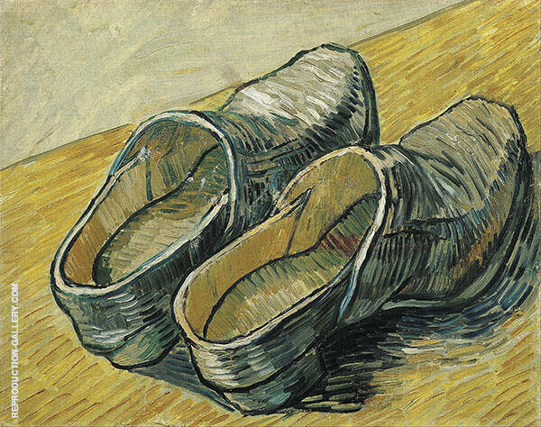 A Pair of Leather Clogs Painting By Vincent van Gogh