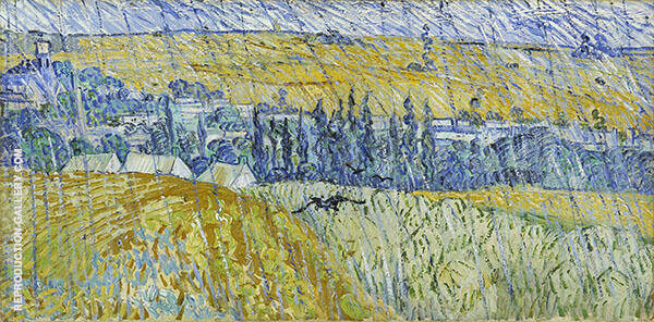 Auvers in The Rain 1890 By Vincent van Gogh