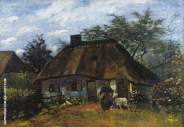 Farmhouse in Nuenen Painting By Vincent van Gogh - Reproduction Gallery