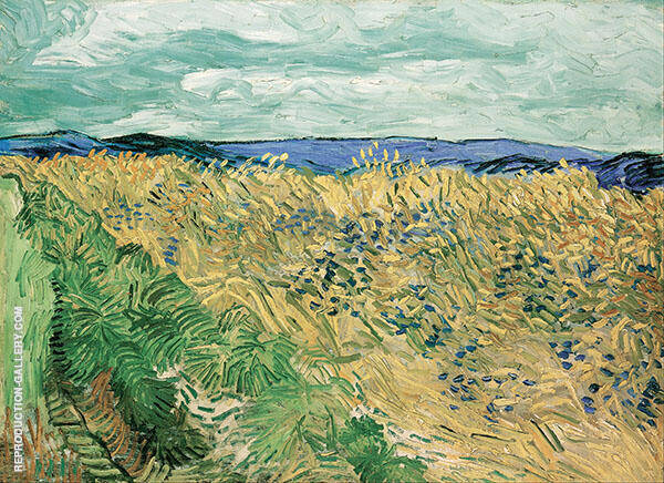 Wheatfield with Cornflowers 1890 By Vincent van Gogh