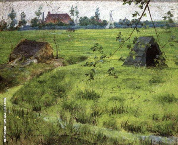 A Bit of Holland Meadows By William Merritt Chase