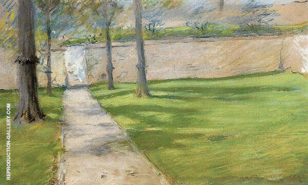 A Bit of Sunlight aka The Garden Wass 1888 By William Merritt Chase