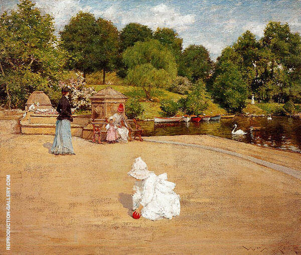 A Bit of The Terrace 1890 By William Merritt Chase