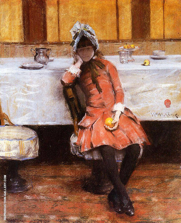 Young Girl on an Ocean Steamer 1883 By William Merritt Chase