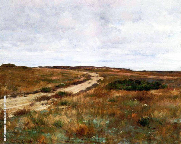 A Hinterland Landscape with Road By William Merritt Chase