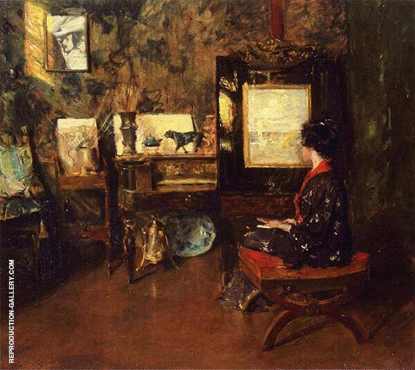 Alice in The Shinnecock Studio By William Merritt Chase