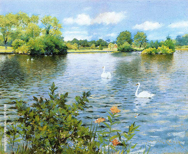 A Long Island Lake Painting By William Merritt Chase