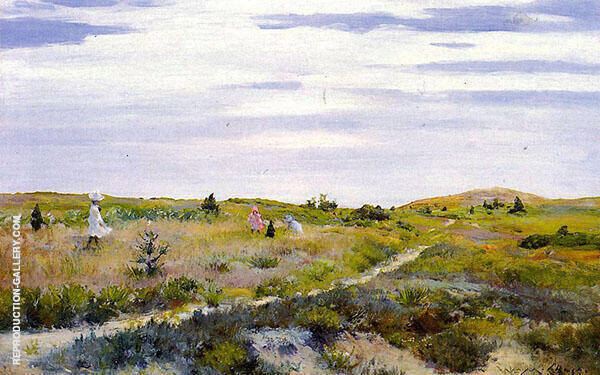 Along The Path at Shinnecock Painting By William Merritt Chase