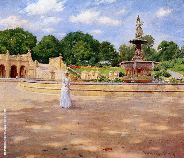 An Early Stroll in The Park 1890 Painting By William Merritt Chase