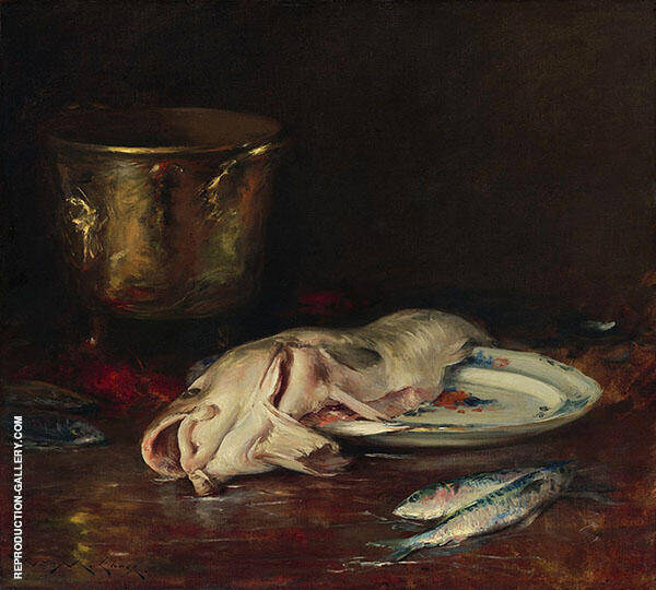 An English Cod Painting By William Merritt Chase - Reproduction Gallery