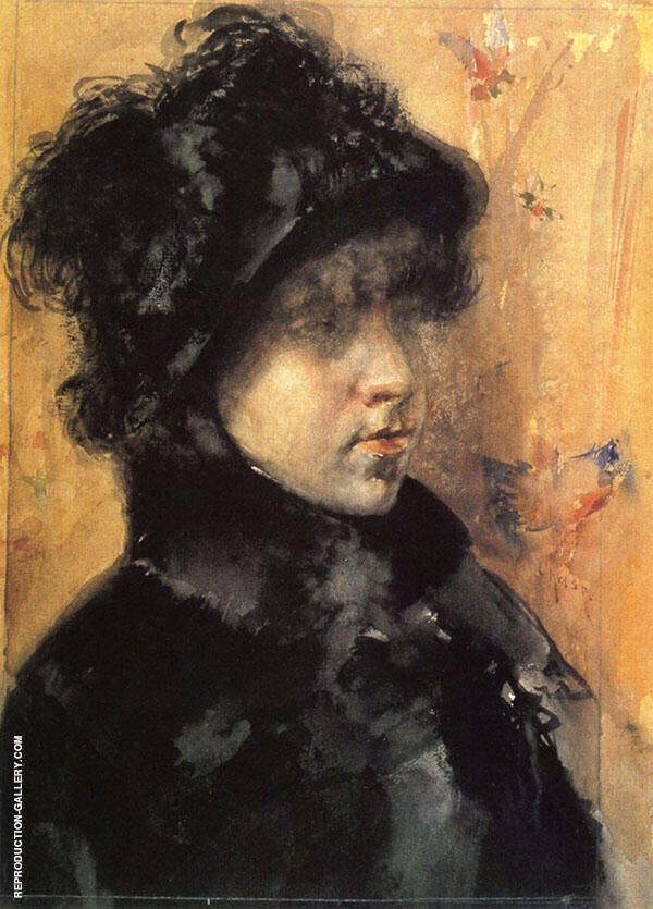 A Portrait Study Painting By William Merritt Chase - Reproduction Gallery
