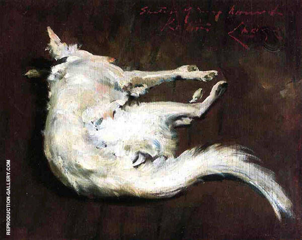 A Sketch of My Hound Kuttie By William Merritt Chase