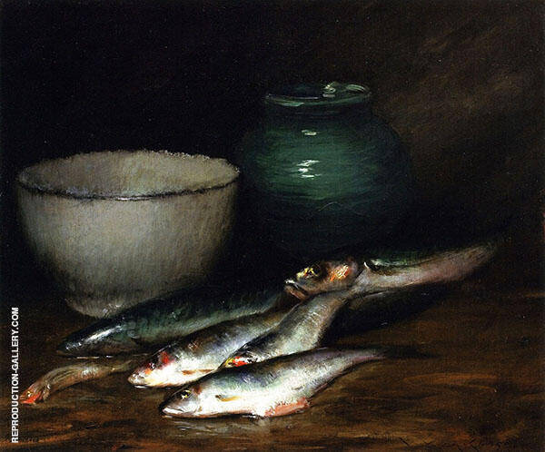 A Small Pile of Fish Painting By William Merritt Chase