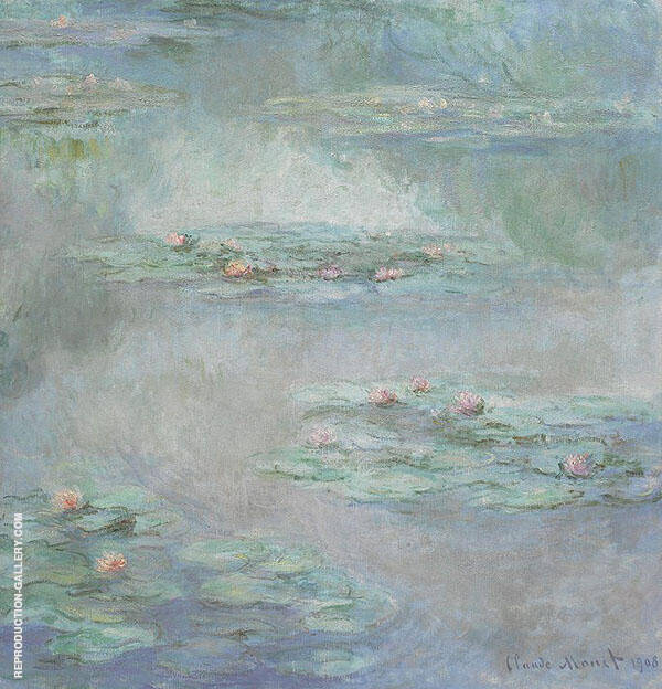 Nympheas 1908 By Claude Monet