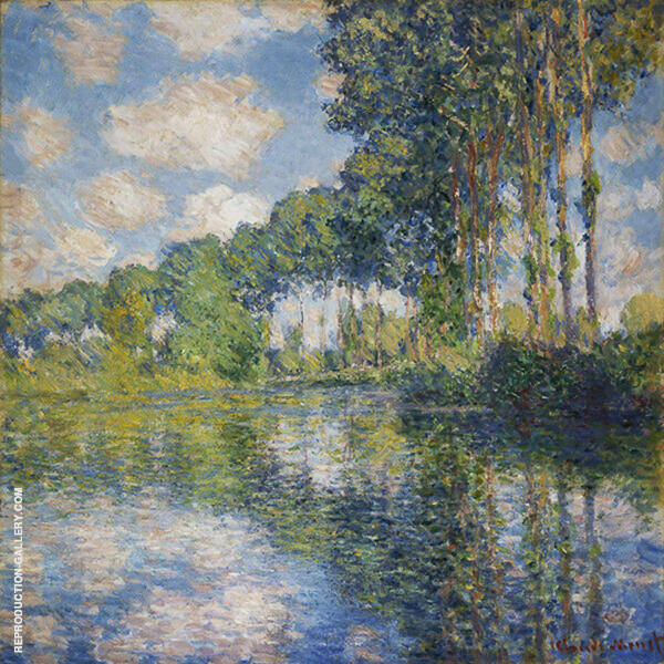 Poplars on the Epte 1891 By Claude Monet