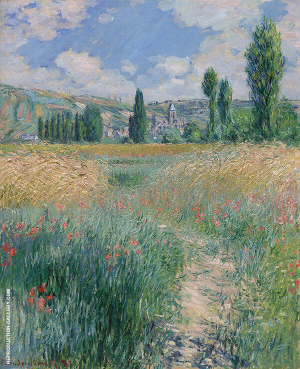 Path on the Island of Saint Martin Vetheuil 1881 By Claude Monet