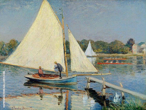 Boaters at Argenteuil 1874 By Claude Monet