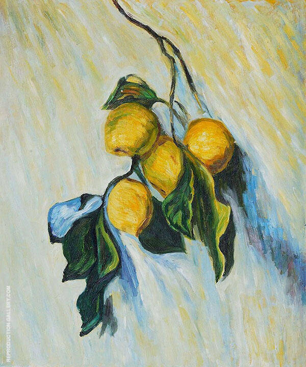 Branch of Lemons 1884 By Claude Monet