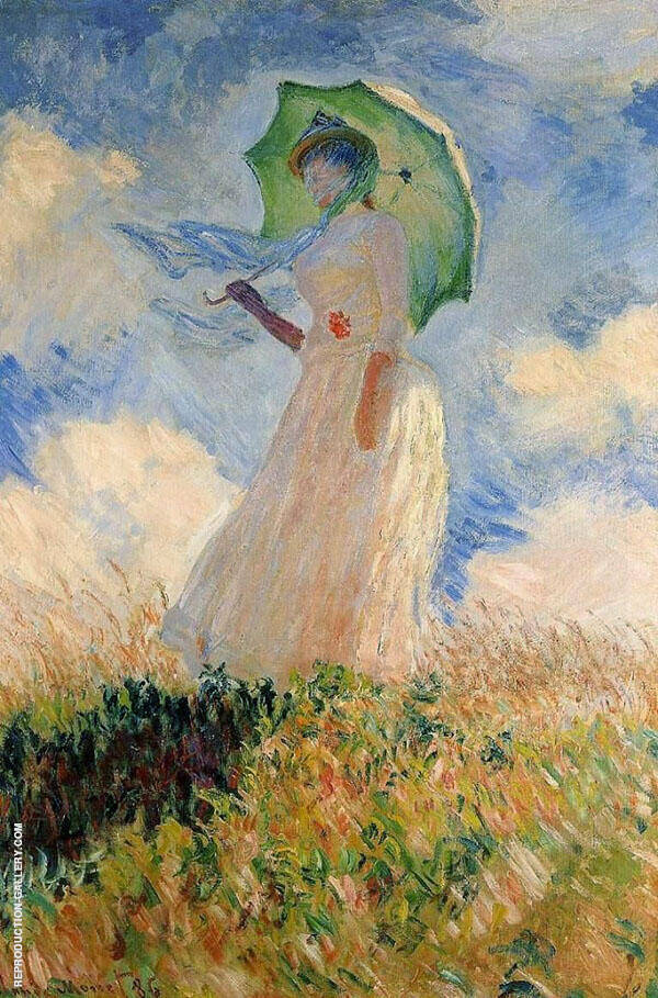 Woman with Parasol 1875 By Claude Monet