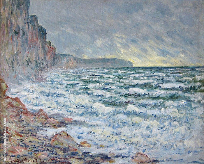 Fecamp by the Sea 1881 By Claude Monet