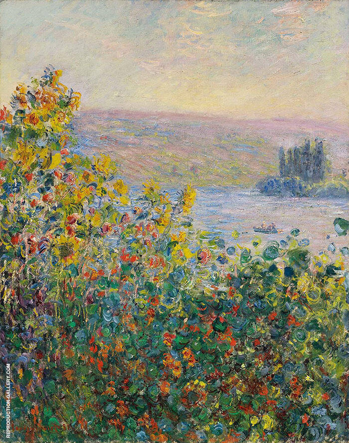 Flower Beds at Vetheuil 1881 By Claude Monet