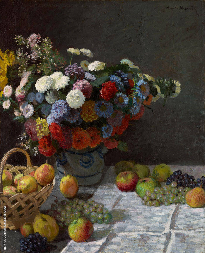 Flowers and Fruit 1869 By Claude Monet