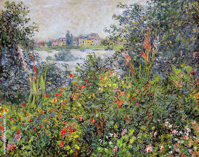 Flowers at Vetheuil 1800 By Claude Monet