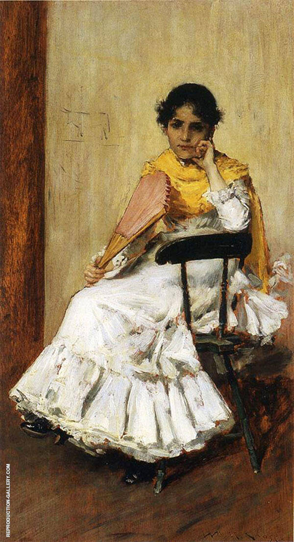 A Spanish Girl Painting By William Merritt Chase - Reproduction Gallery