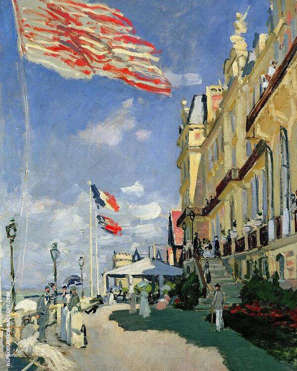 Hotel des Roches Noires Trouville 1870 By Claude Monet
