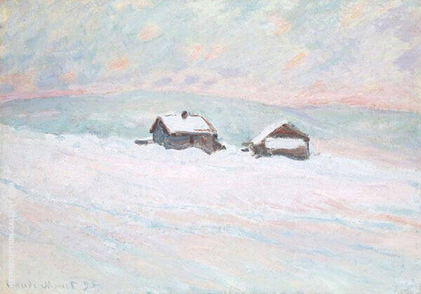 Houses in the Snow 1895 By Claude Monet